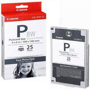 Canon E-P25BW 25 vel postcard 10x15cm zwart-wit