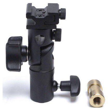 Foto van LumoPro LP633 Umbrella Swivel + Hotshoe adapter