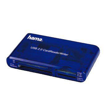 Foto van Hama All-in-One Multicard Reader USB 2.0 Blauw