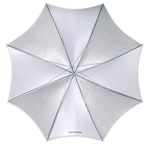 Foto van Westcott 2001 (109cm/43 Inch) Opvouwbare Paraplu Optical White Satin