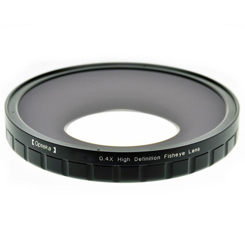 Foto van Opteka 0.4X HD2 Fisheye Lens voor Professional Video Camcorders 62mm