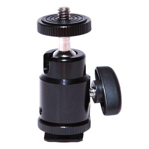 Vibesta Ballhead-Mini met hotshoe adapter