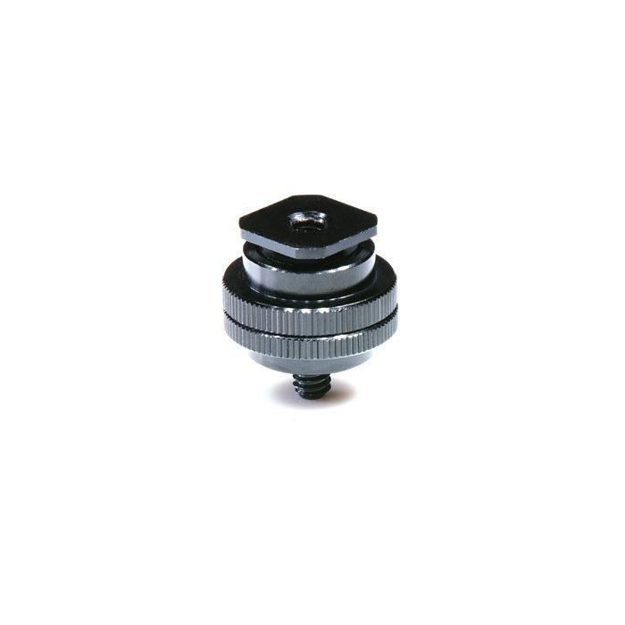 Nomis Hotshoe Adapter 1/4 schroef en 1/4 schroefdraad