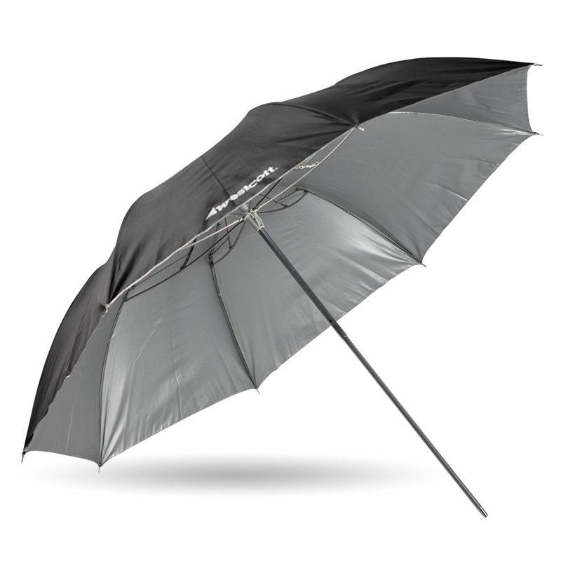 Foto van Westcott 2002 (109cm/43 Inch) Opvouwbare Paraplu Soft Silver