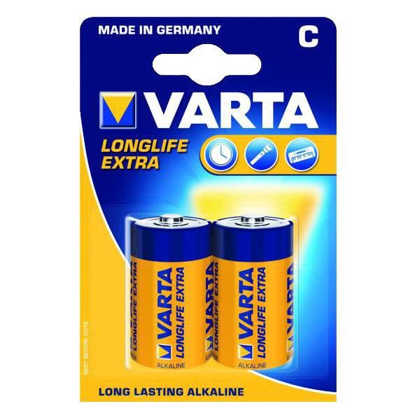 Image of 1x2 Varta Longlife Extra Baby C LR 14