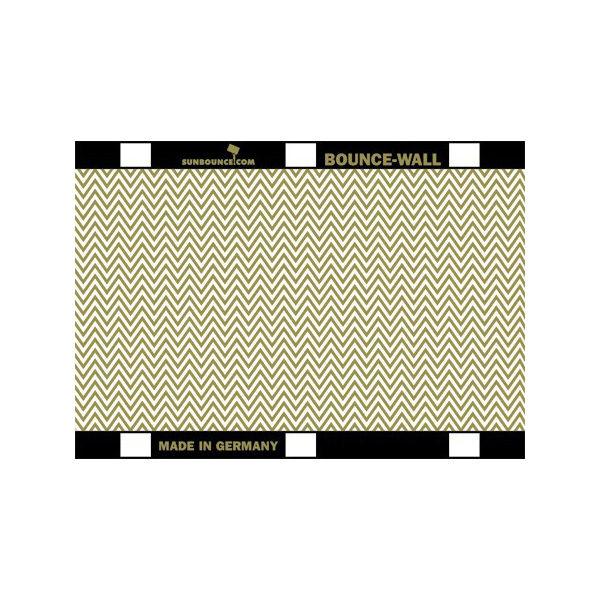 Foto van Sunbounce Bounce-Wall Reflector Zig-Zag Gold / White (21 x 29,7 cm)
