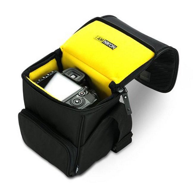 Schoudertas Nikon : Nikon acme slr snuittas