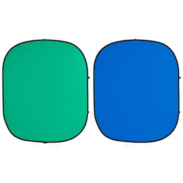 Foto van Savage 2-zijdige Opvouwbare Achtergrond 152x183cm (Chroma Groen/ Chroma Blauw)