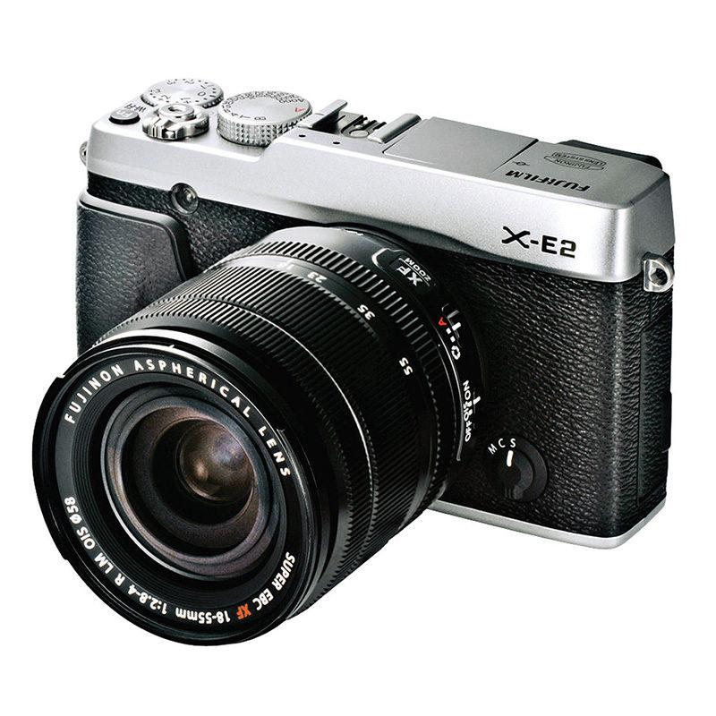 Fujifilm X-E2 systeemcamera Zilver + 18-55mm