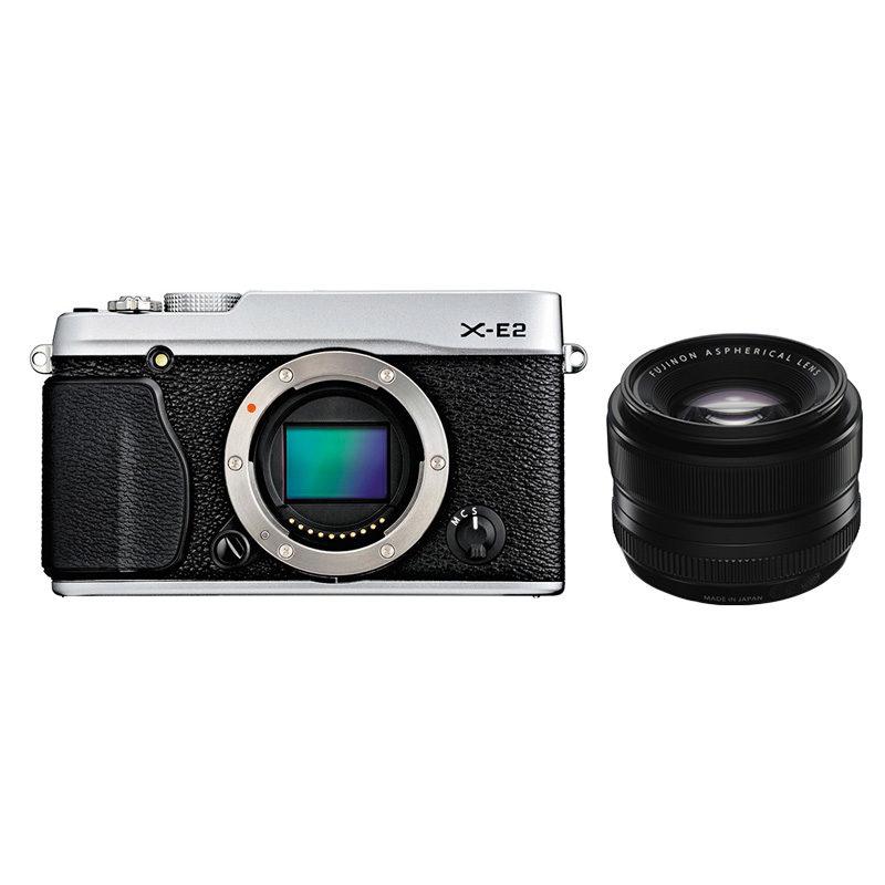 Fujifilm X-E2 systeemcamera Zilver + XF 35mm