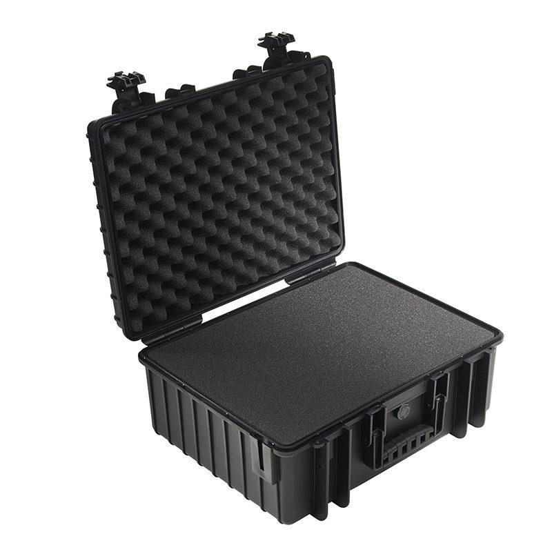 b w outdoor case type 6000 zwart met plukschuim. Black Bedroom Furniture Sets. Home Design Ideas