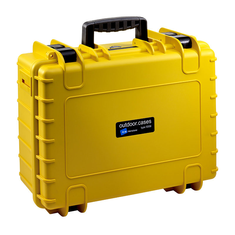 b w outdoor case type 5000 geel met plukschuim. Black Bedroom Furniture Sets. Home Design Ideas