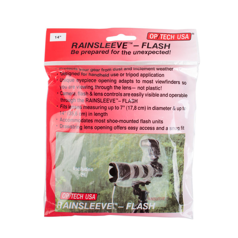Foto van Op/Tech Rain Sleeve Flash (2 stuks)