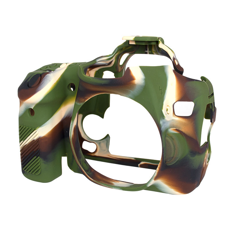 Foto van EasyCover Cameracase Canon EOS 70D Camouflage