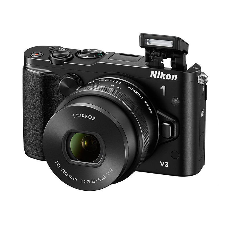 Nikon 1 V3 systeemcamera Zwart + VR 10-30mm PD-Zoom - thumbnail 2