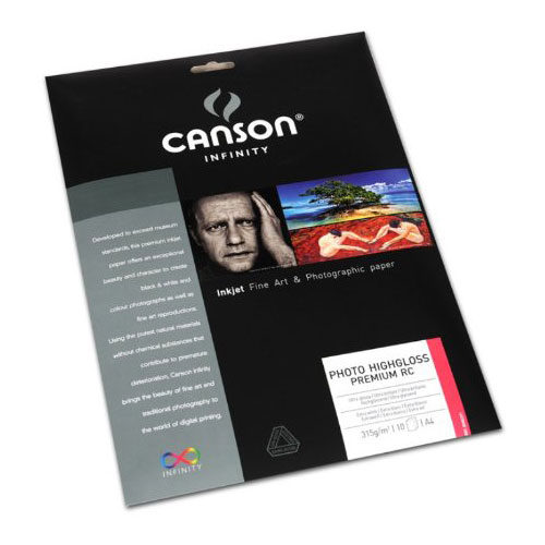 Image of Canson Infinity Photo Highgloss Premium RC 315g A4 10 vel