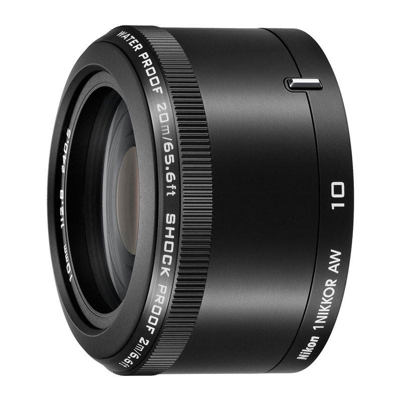 Foto van 1 Nikon 10mm f/2.8 AW1 objectief Zwart