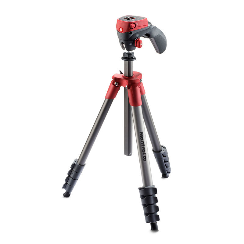 Manfrotto Compact Action statief Rood