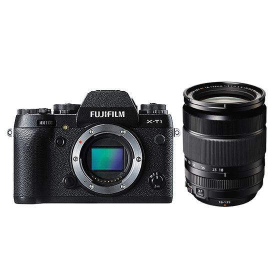 Fujifilm X-T1 systeemcamera Zwart + 18-135mm