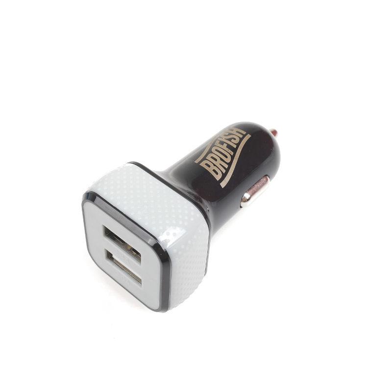 Brofish USB Carcharger Duo Black & Grey