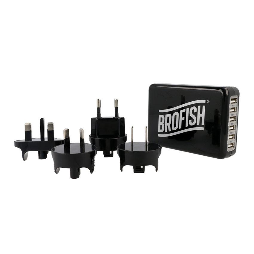 Brofish USB Wallcharger 6 Port Black