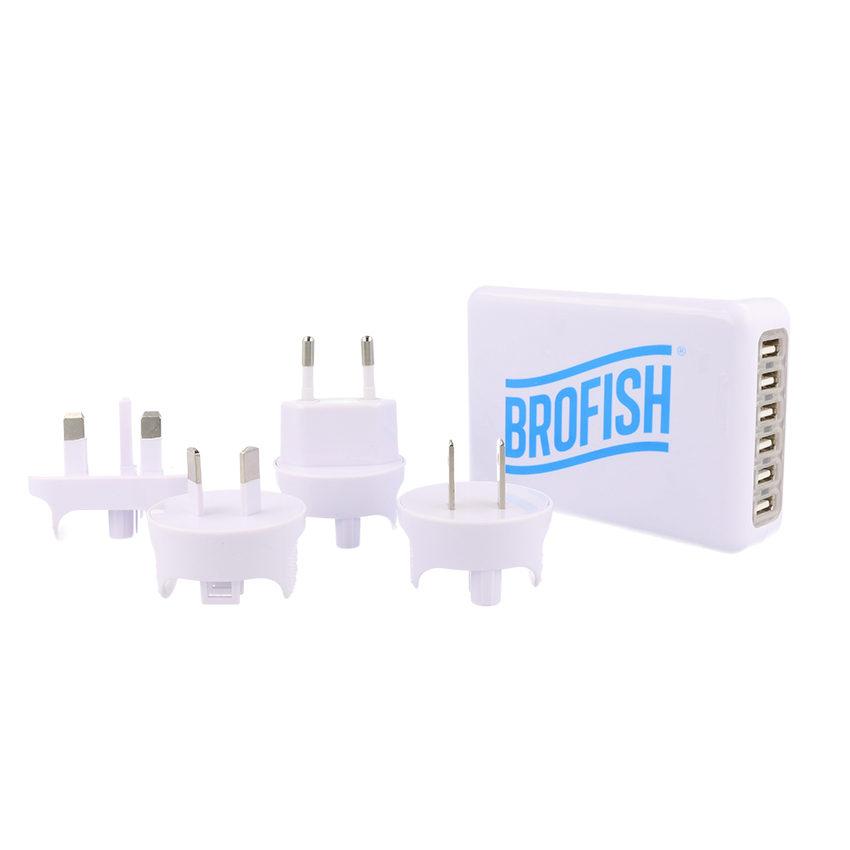 Foto van Brofish USB Wallcharger 6 Port White