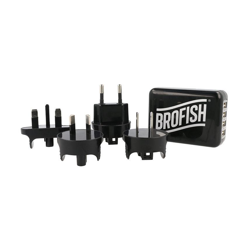 Brofish USB Wallcharger 4 Port Black