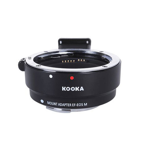Kooka Lens Mount Adapter Chroom (Canon EF-EF-S naar Canon-M)