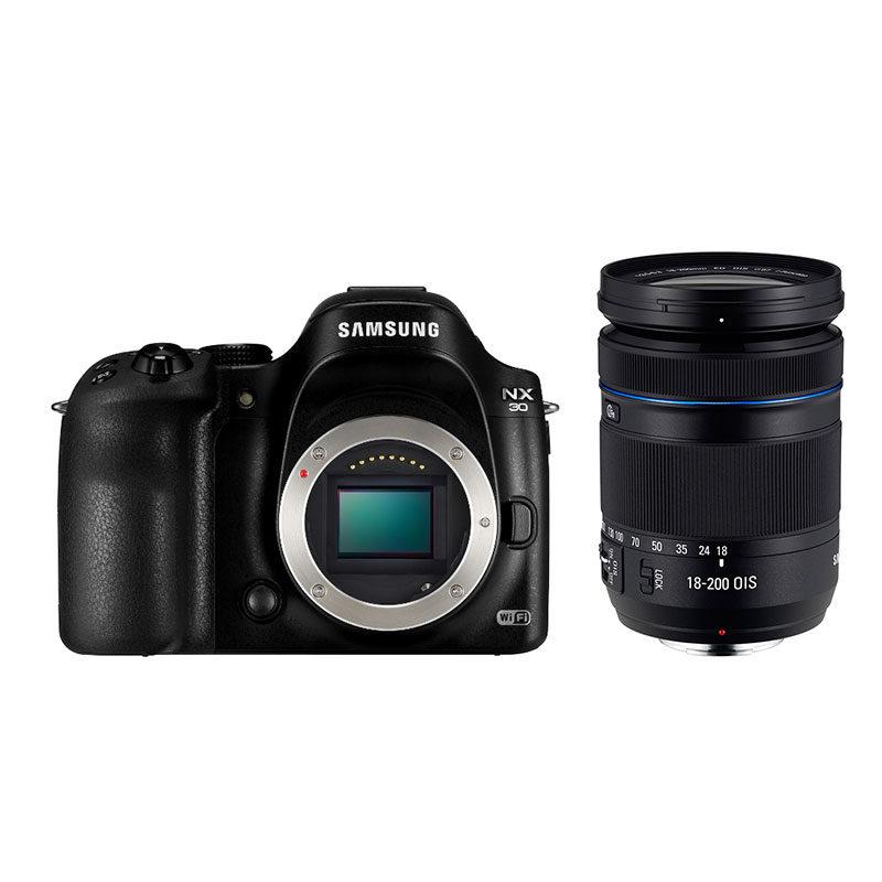 Samsung NX30 systeemcamera + 18-200mm Zwart