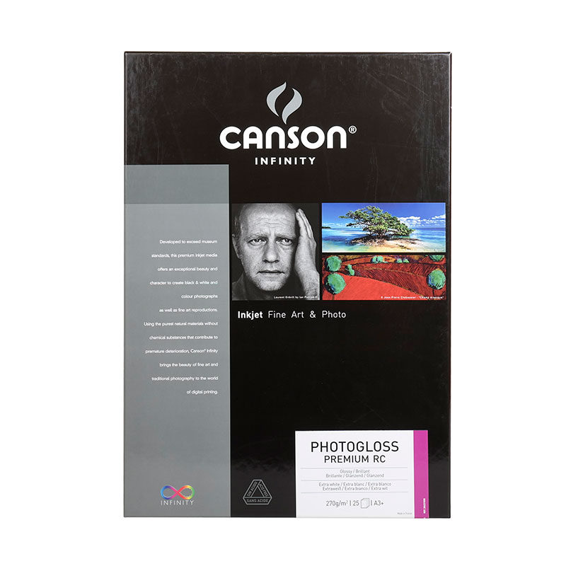 Image of Canson Infinity Photogloss Premium RC 270g A3+ 25 vel