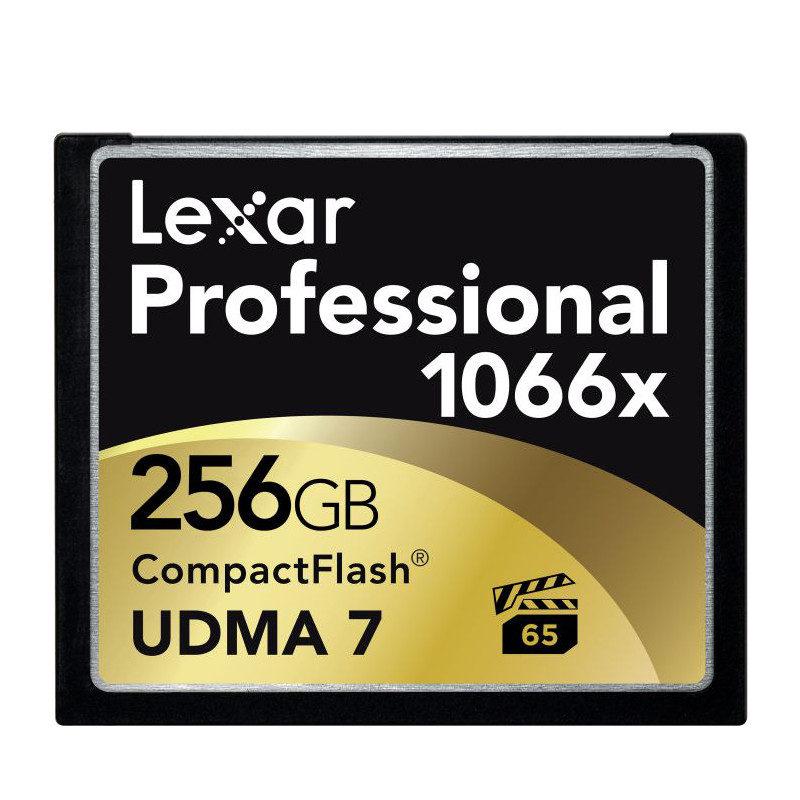 Lexar CF Pro 1066x UDMA7 256GB 160MB/sec compact flash met korting