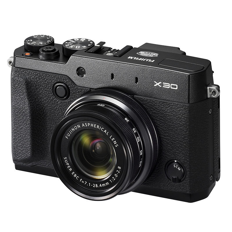 Fujifilm FinePix X30 compact camera Zwart