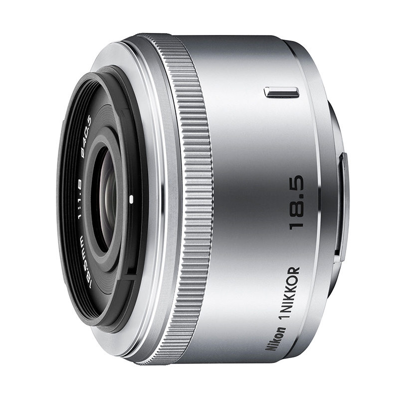 1 Nikkor 18.5mm f/1.8 objectief Zilver