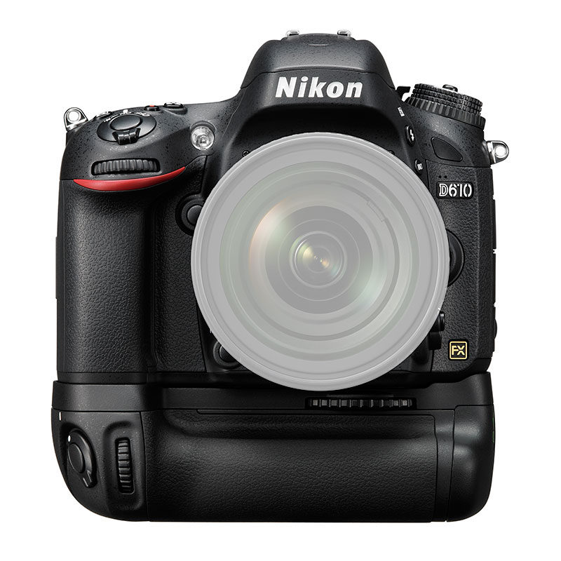 Nikon D610 DSLR Body + MB-D14 Battery Grip