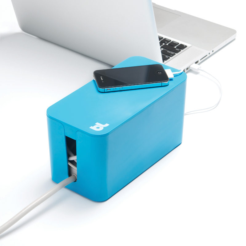 Afbeelding van Bluelounge Cablebox Mini Blue