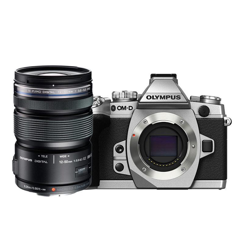 130e11345f2 Olympus E-M1 systeemcamera Zilver + 12-50mm Zwart