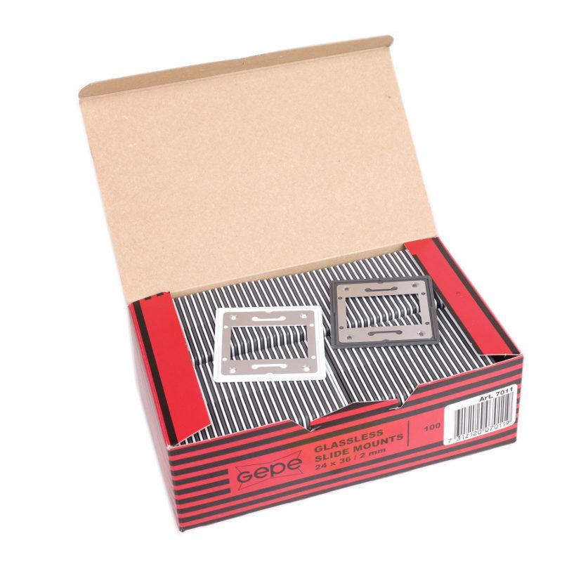 Gepe glasloos diaraam-set metaal 2mm - 100 stuks