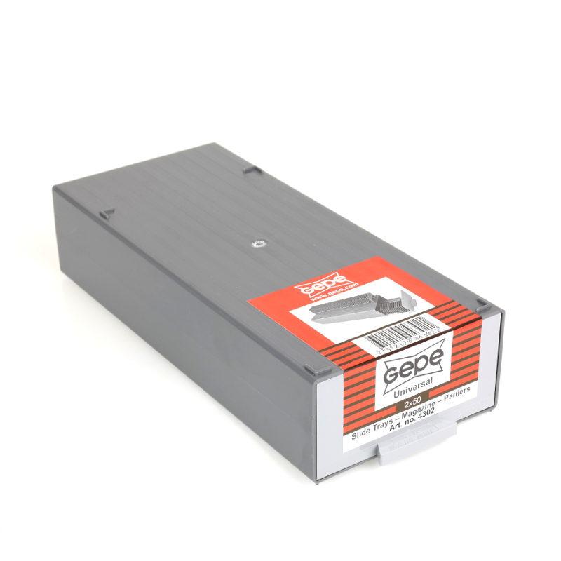 Gepe Stapelcassette met 2x universeel magazijn voor elk 50 dia's