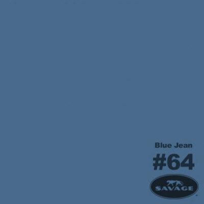 Foto van 2 x Savage Achtergrondrol Blue Jean (nr 64) 2.75m x 11m