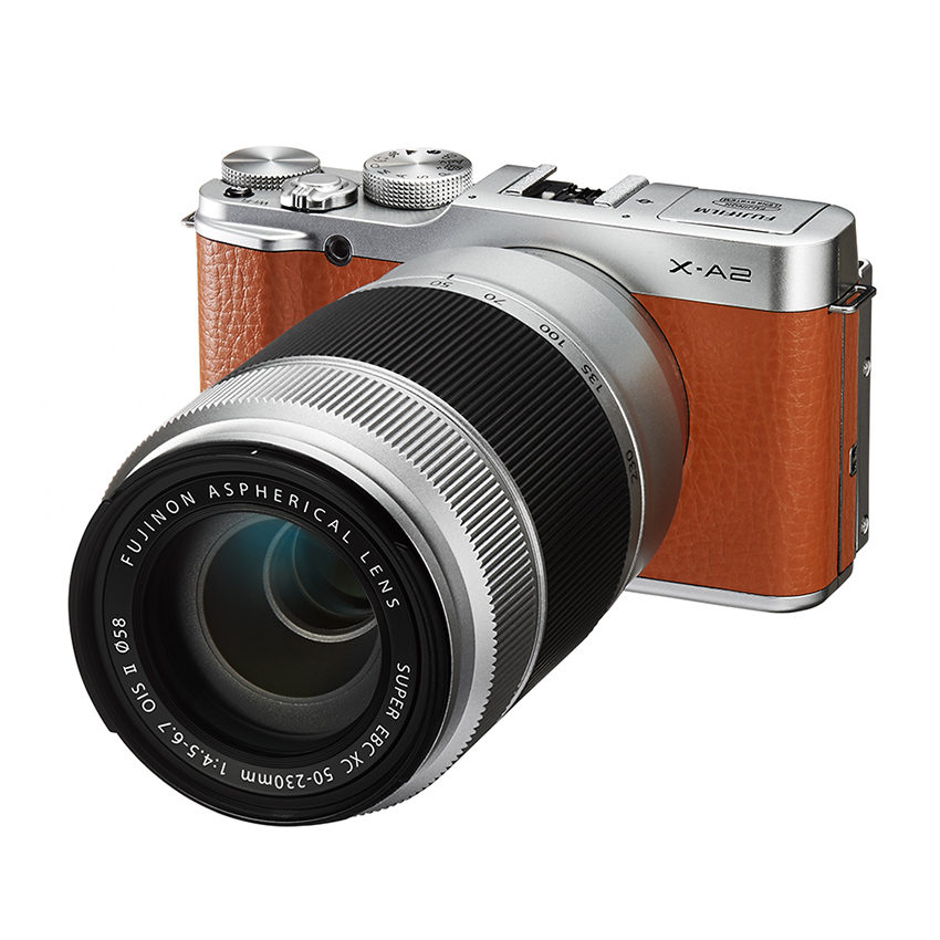 Fujifilm X-A2 systeemcamera Bruin + 16-50mm + 50-230mm