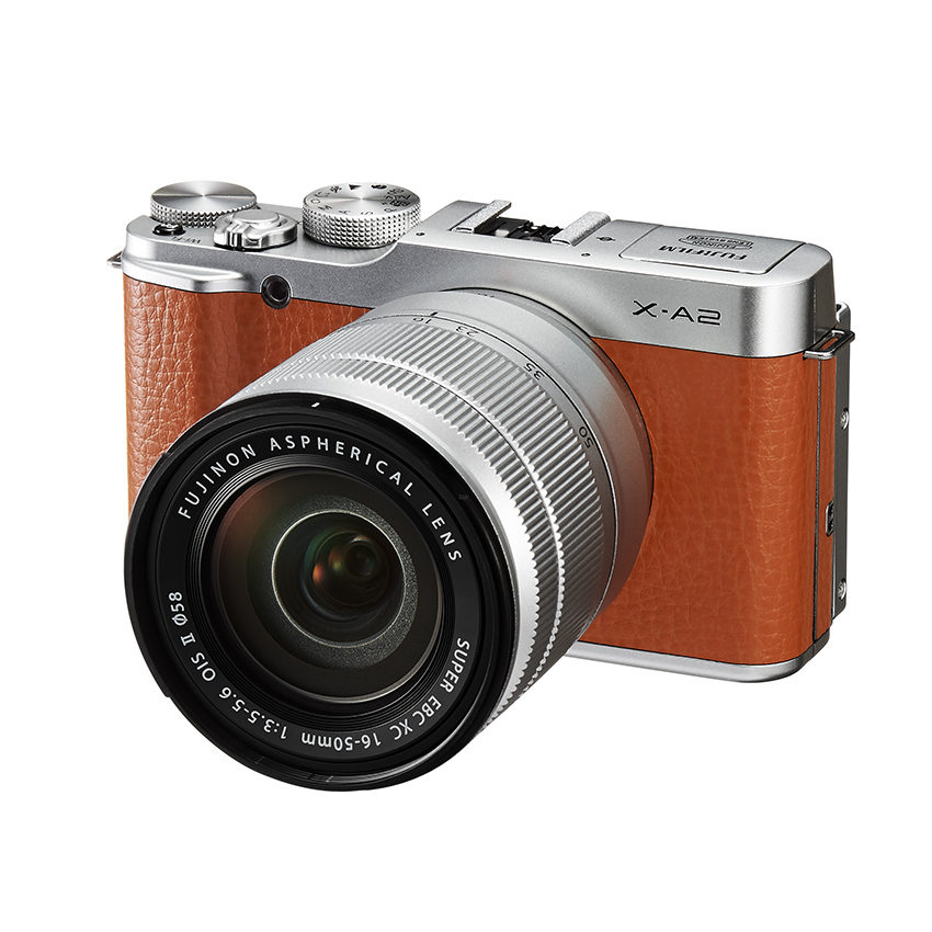 Fujifilm X-A2 systeemcamera Bruin + 16-50mm