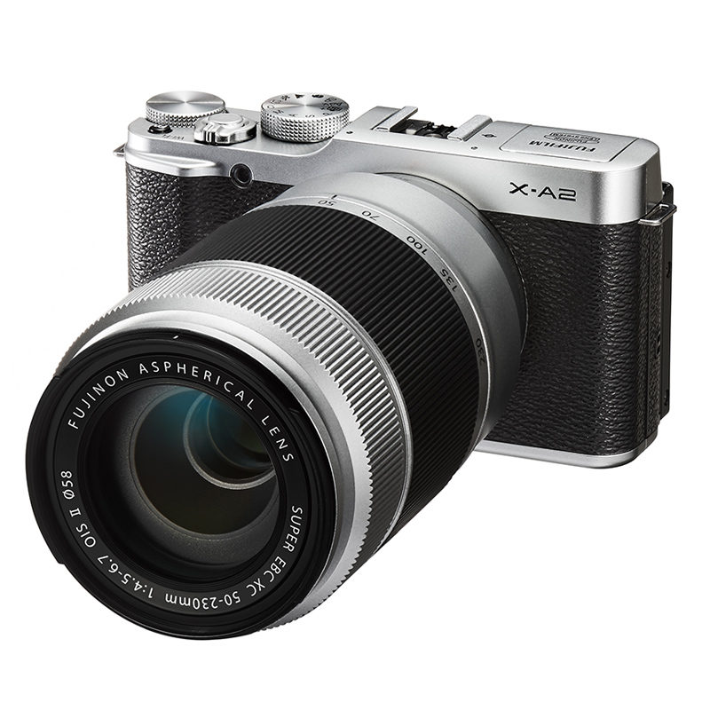 Fujifilm X-A2 systeemcamera Zwart/Zilver + 16-50mm + 50-230mm