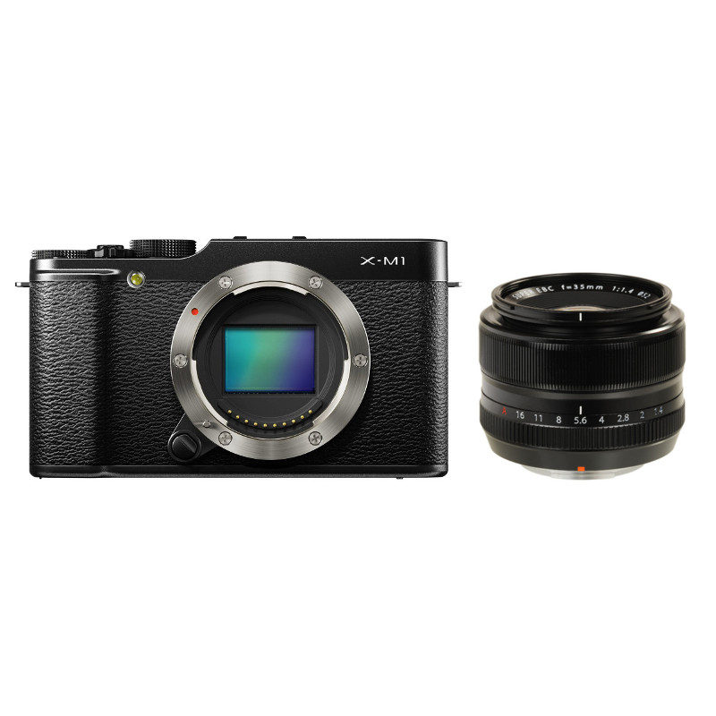 Fujifilm X-M1 systeemcamera Zwart + XF 35mm f/1.4R