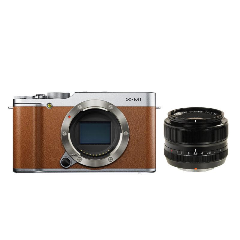 Fujifilm X-M1 systeemcamera Bruin + XF 35mm f/1.4R