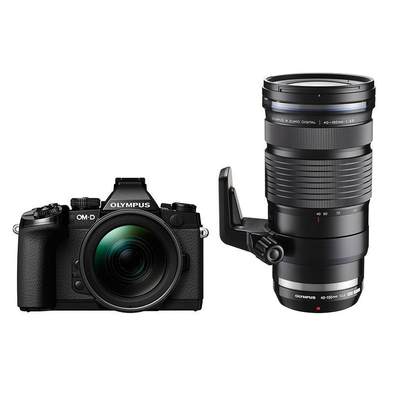 d66515708d0 Olympus E-M1 systeemcamera Zwart + 12-40mm + 40-150mm PRO -