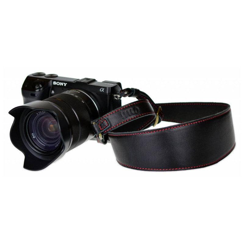 Foto van iMo Zwart Leer Camera Strap