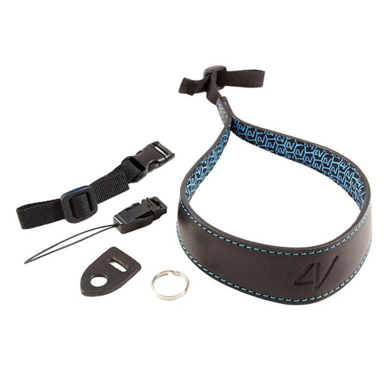 Foto van 4V Design Ergo Large Wrist Strap Tuscany Leather Black/Black