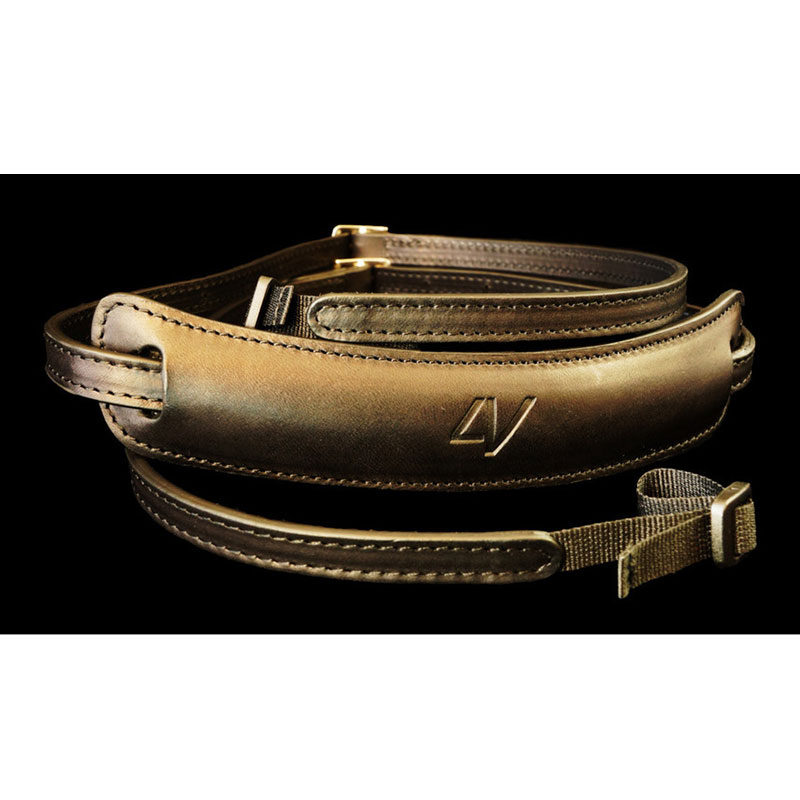 Image of 4V Design Lusso Medium Neck Strap Tuscany Leather Black/Black