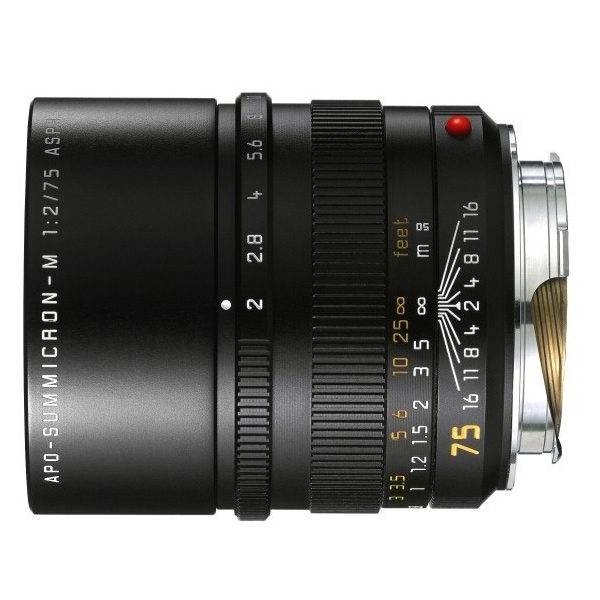 Foto van Leica APO-Summicron-M 75mm f/2.0 ASPH objectief Zwart