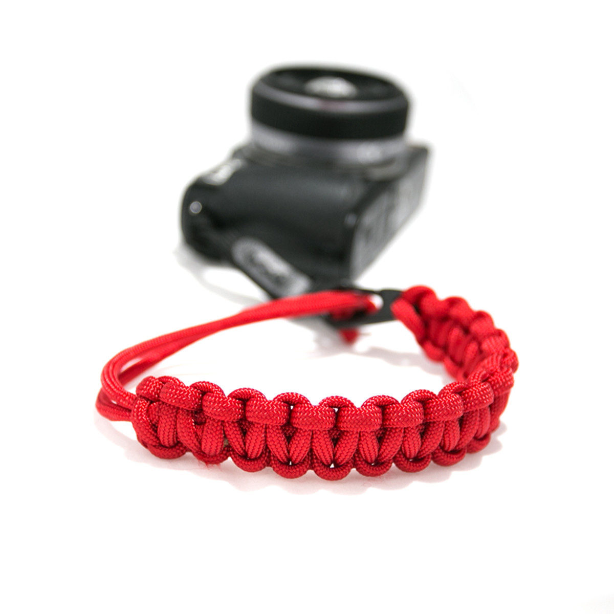 DSPTCH Camera Wrist Strap - Red/Matte Black